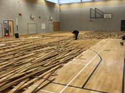School - Old Flooring Took Up