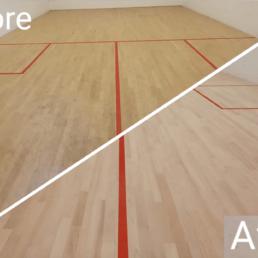 School Squash Court Flooring
